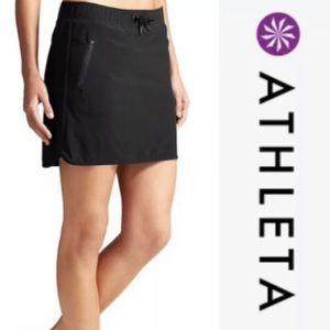 ATHLETA Stretch In Skort Zip Pockets Athletic